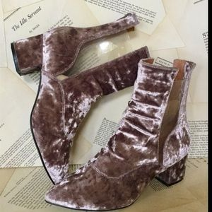 Jeffrey Campbell mauve pink Crushed Velvet Boot 9